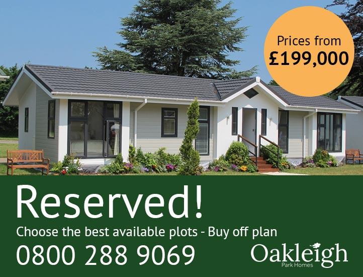 reserve a plot Oakleigh Park residential mobile homes for sale in essex