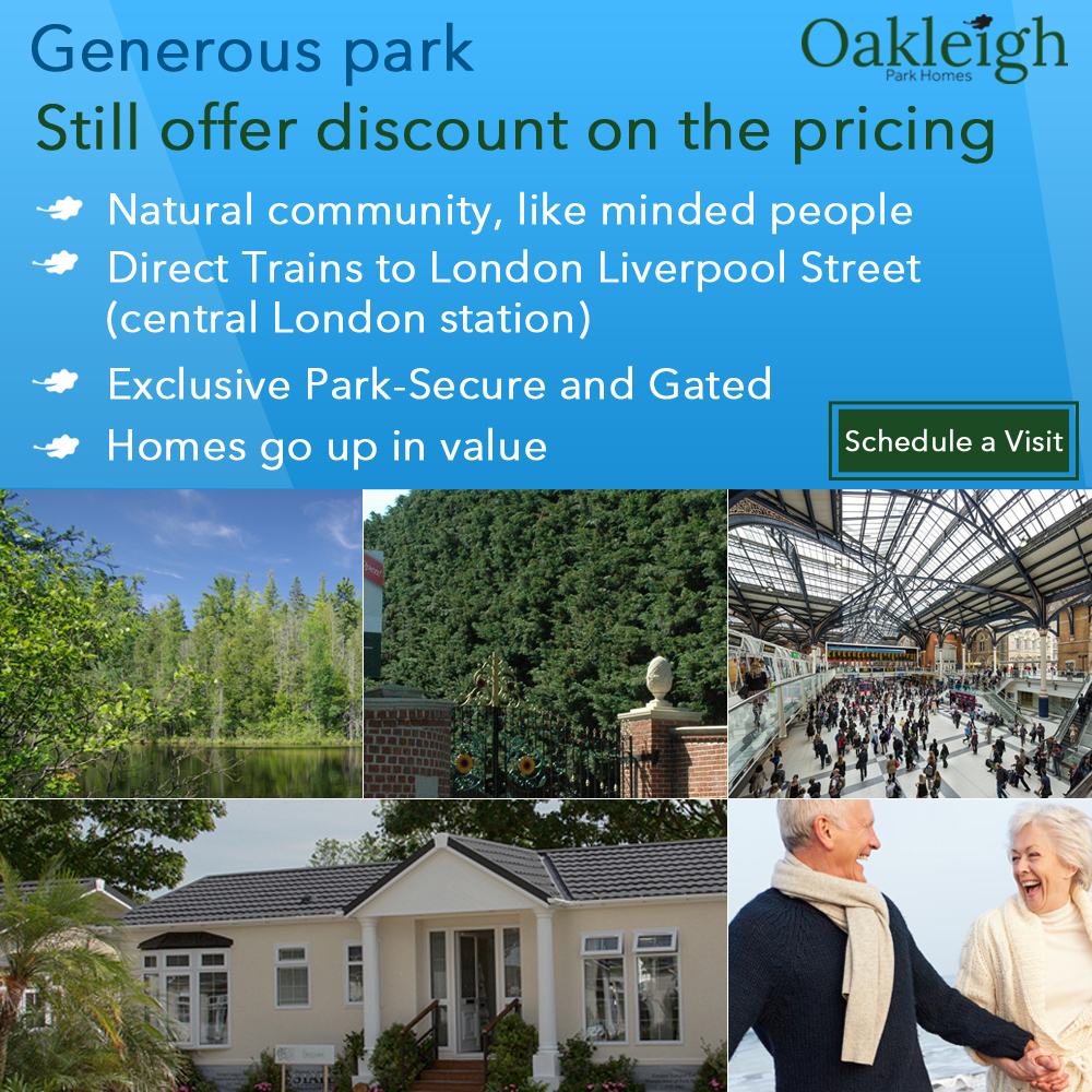 residential park homes for sale in Essex Oakleigh park residential homes local amenities